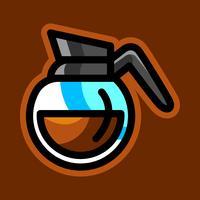 Coffee Pot Hot Drink Cartoon Illustration