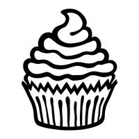 Cupcake-Vektor-Symbol