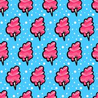 Cotton candy fluffig skräpmat tecknad