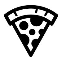 icono de vector de rebanada de pizza