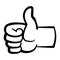 Cartoon Hand Making Positive Thumbs Up Gesture vector