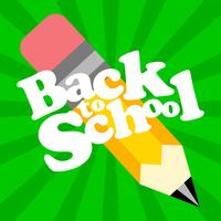 Back to School vector text graphic icon