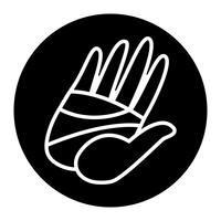 Dessin animé main haute cinq illustration vectorielle