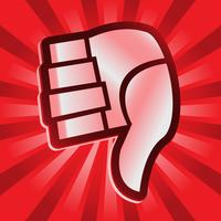 Thumbs Down Vector Icon