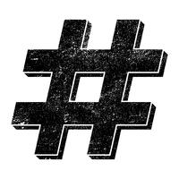 Hashtag vector pictogram