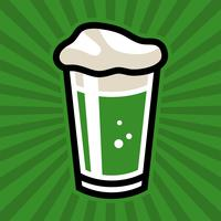 Green Irish Beer Pint Glass Vector Icon