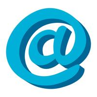 E-mail bij symbool