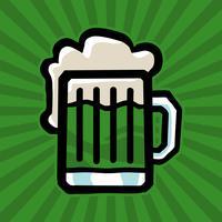 Grüne irische Bierkrug-Vektor-Ikone