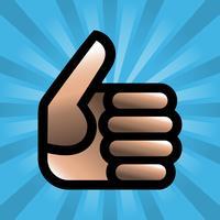 Cartoon Hand Making Positive Thumbs Up Gesture vector