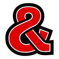 Icono de vector ampersand