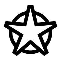 Icona stella vettoriale