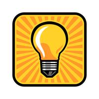 Lightbulb Vector Icon