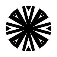 Icône de vecteur de conception complexe cercle tribal