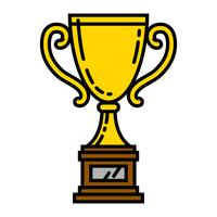 Trophy vector illustration
