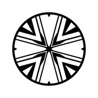Complex Tribal Circle Design Vector Icon