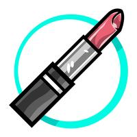 Lippenstift vector pictogram