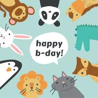 Animal Friends Celebrating a Birthday