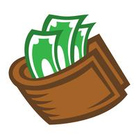 Wallet Money vector icon