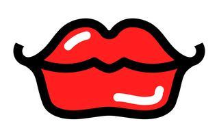 icono de vector de labios sexy