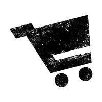 Einkaufswagen-Vektor-Symbol