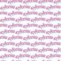 Princesa Girly Pink Logo texto gráfico con corona