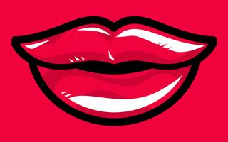 Sexy lippen Vector Icon