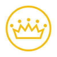 Corona real icono de vector