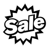 Försäljning Text Badge Sign Vector