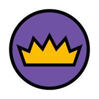 Icône de vecteur de couronne royale
