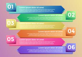 3d Rainbow Chart Infographic Elements Vector