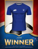Coupe de football 2018, concept gagnant du Japon.