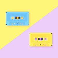 Audio Cassette Tapes Pop Background