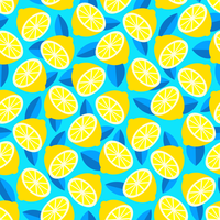 Trendy Bright Citrus Summer Vector Background