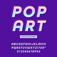 Modern Pop Art Font Effect Vector