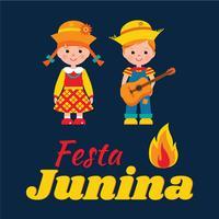 Fundo de festa junina. Ilustração em vetor festa junina