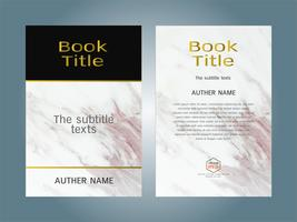 Cover book design layout template white marble texture. vector