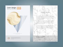 Weiße Marmorbeschaffenheit der Abdeckungsbuch-Designplan-Schablone.