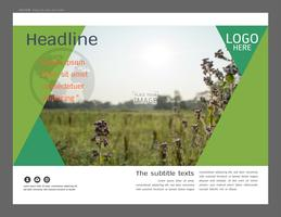 Presentation layout design for greenery cover page template.