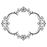 Ornamental vintage frame. Vector illustration in black and white colors