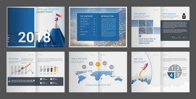Annual report for company profile & advertising agency brochure.