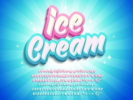 Ice Cream Text Effect Pop 3d Style