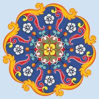 Mandala d'ornement rond coloré ethnique. Illustration vectorielle