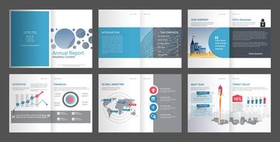 Annual report for company profile & advertising agency brochure. vector