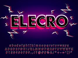 Electronic Typeface With 3d Glitch Effect