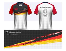 Soccer jersey and t-shirt sport mockup template, Graphic design for football club or activewear uniforms.