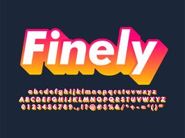Modern Trendy Gradient Font Effect