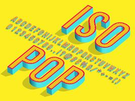 3d Isometric Pop Art Font