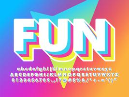 Fun And Friendly Soft 3d Font