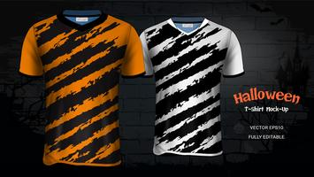 Halloween Costume T-Shirts Mockup Template.