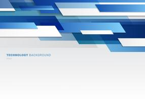 Abstract header blue and white shiny geometric shapes overlapping moving technology futuristic style